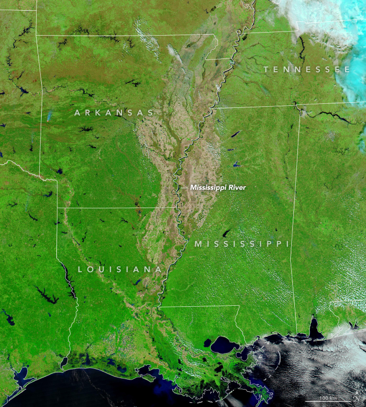 Flooding on the Lower Mississippi Continues