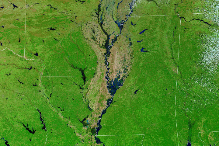The Mississippi and Missouri are Badly Swollen