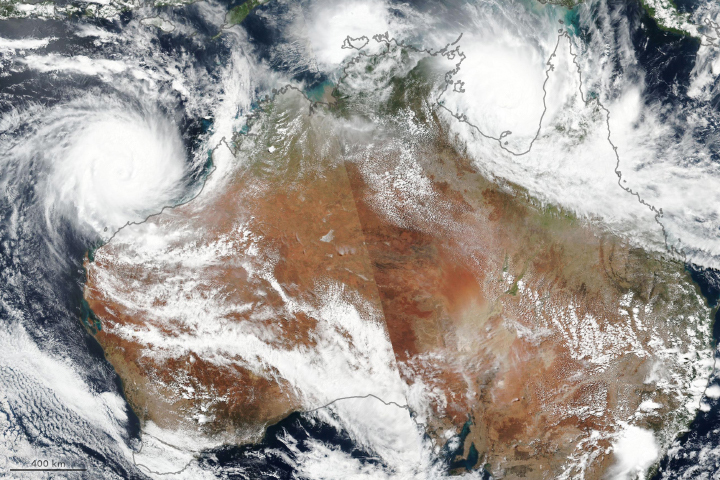Northern Australia Braces for a Pair of Cyclones