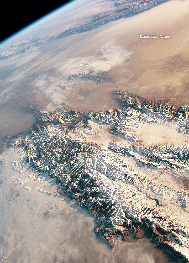 Snow and Sand in Central Asia