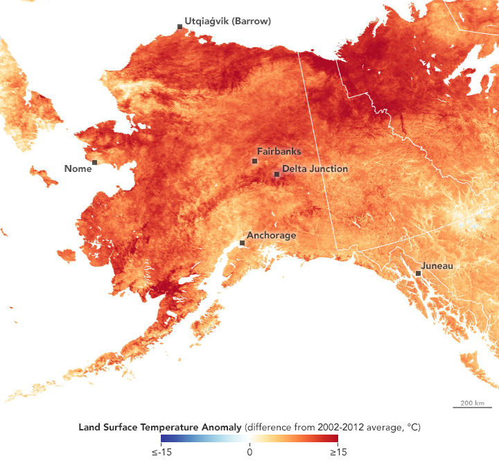 Alaska Hit With a Hot March