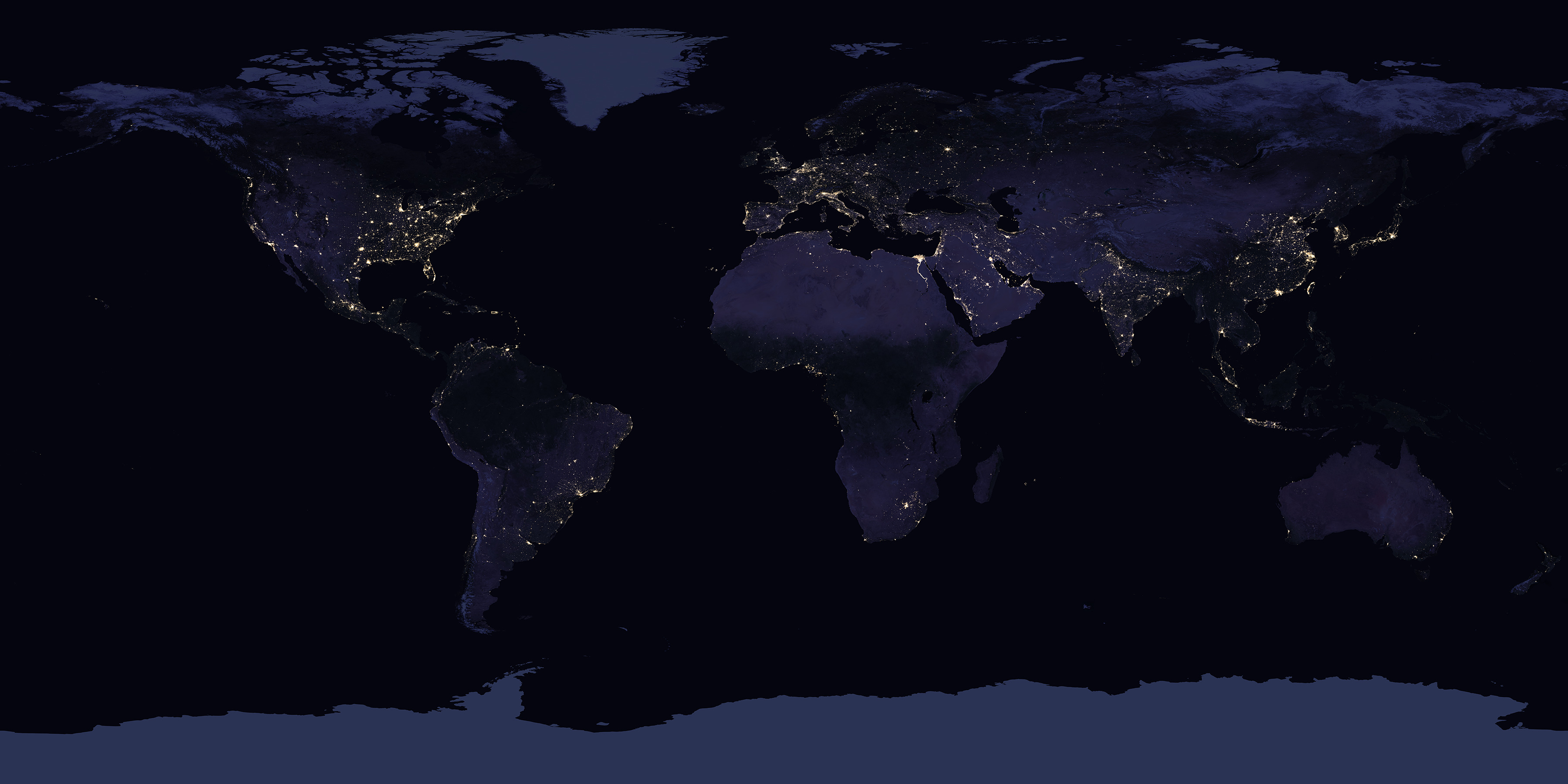 Earth at Night (Black Marble) 2012 Color Maps v2 - related image preview