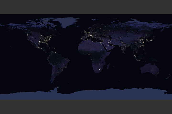 Earth at Night (Black Marble) 2012 Color Maps v2 - selected image