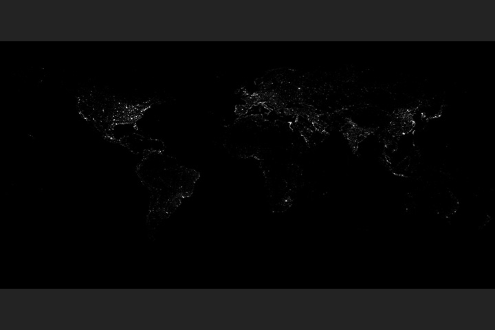 Earth at Night (Black Marble) 2012 Grayscale Maps v2 - selected image