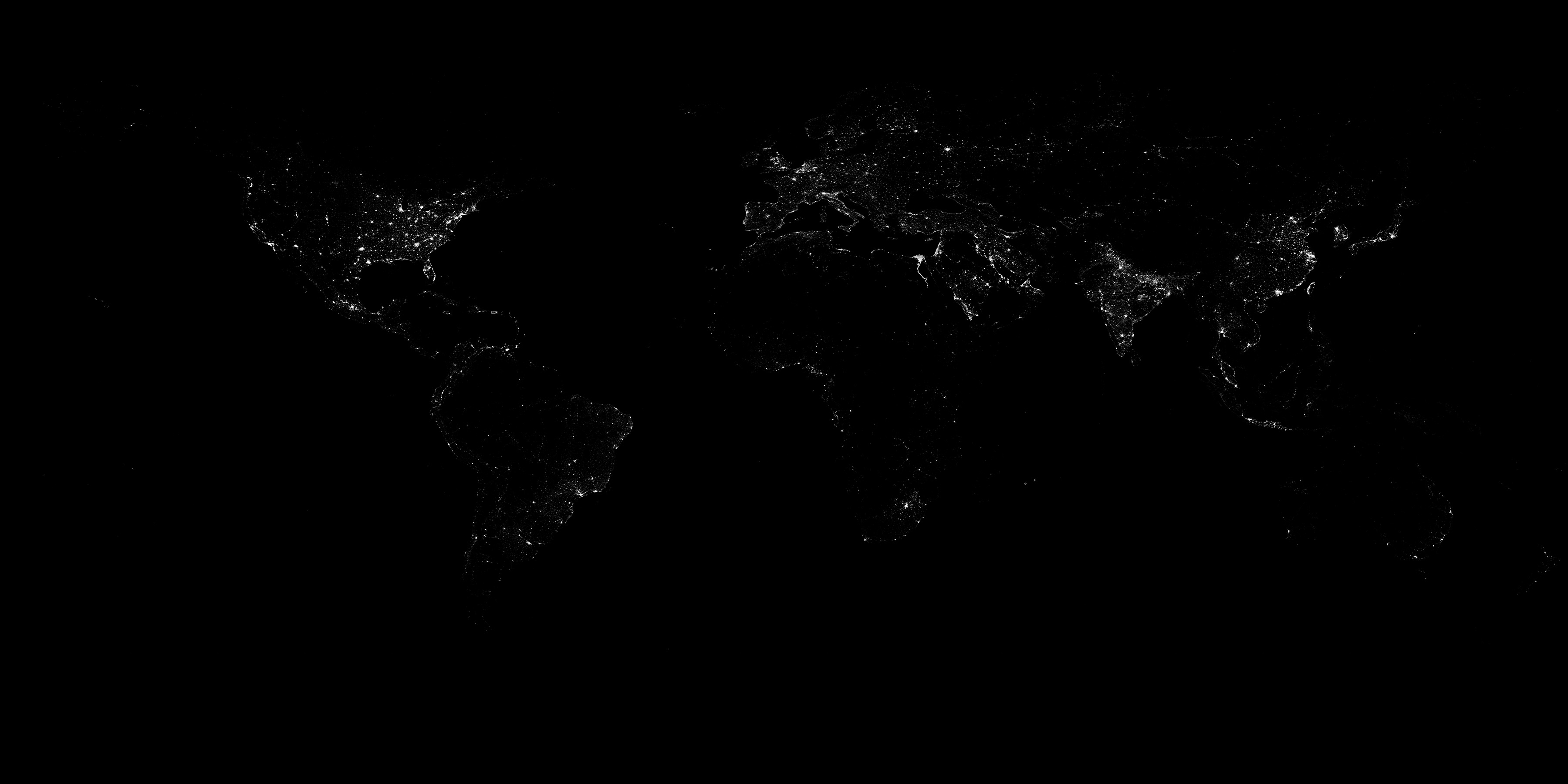 Earth at Night (Black Marble) 2016 Grayscale Maps - related image preview