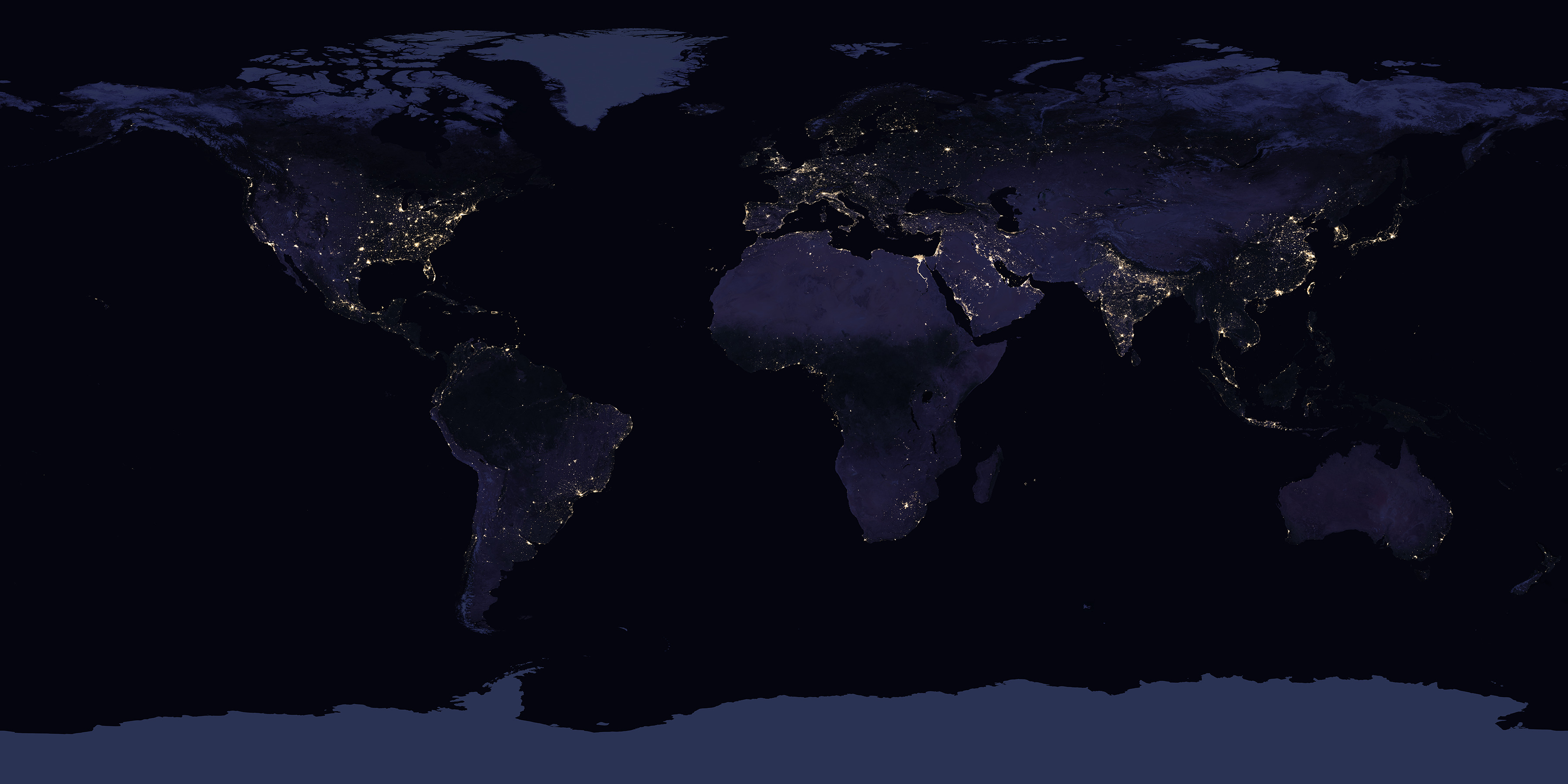 Earth at Night (Black Marble) 2016 Color Maps - related image preview
