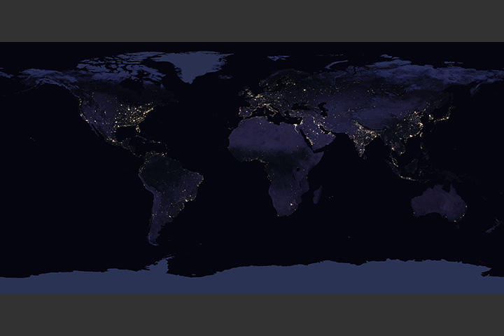 Earth at Night (Black Marble) 2016 Color Maps - selected image