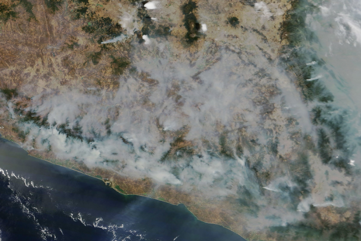 Fires Burn in Guerrero, Mexico