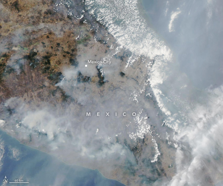 Wildfire Smoke Shrouds Mexico City