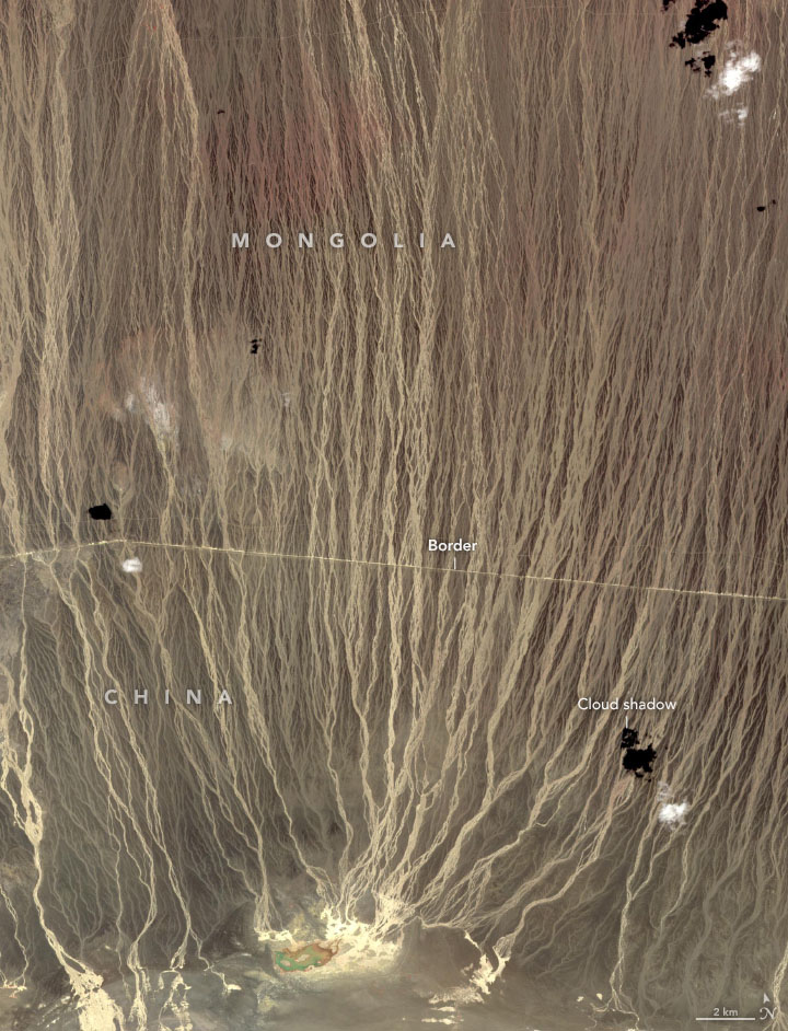 Alluvial Fans in Southern Mongolia