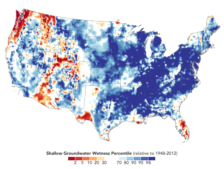 Record-Setting Precipitation Leaves U.S. Soils Soggy