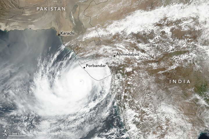 Cyclone Vayu Approaches Western Coast of India - related image preview