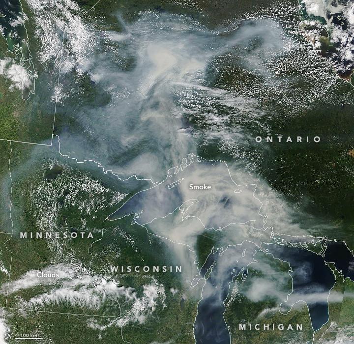 Smoke Spreads Across Ontario