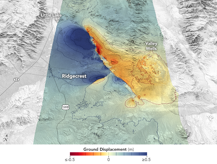 Measuring Movement from the Ridgecrest Quake