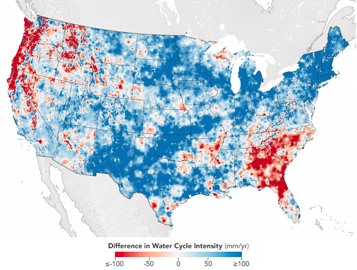 Water Cycle is Speeding Up Over Much of the U.S.