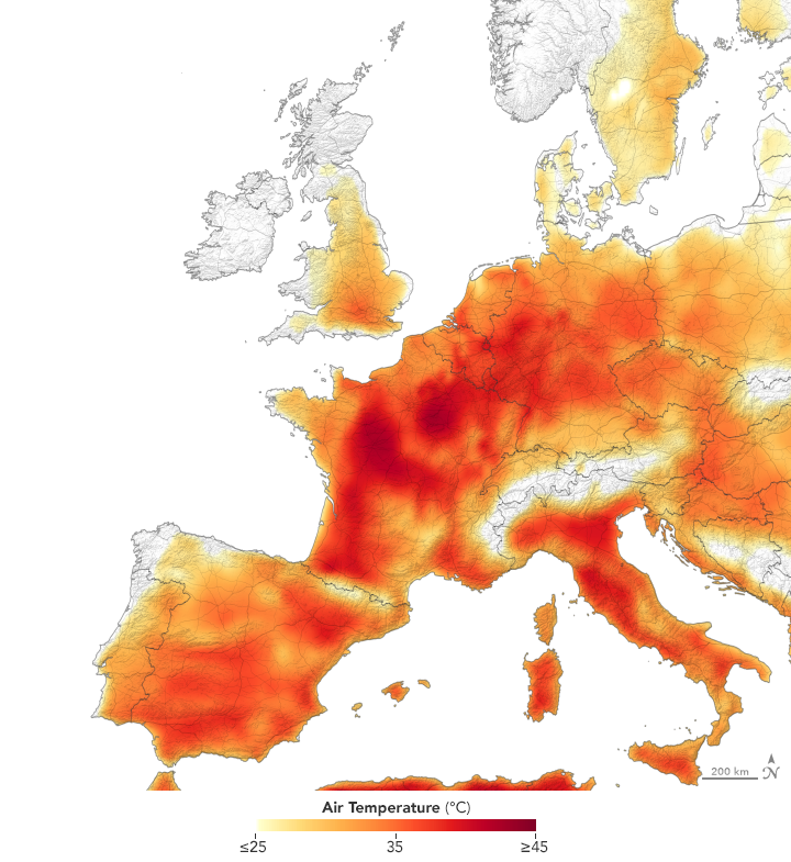 A Second Scorching Heatwave in Europe