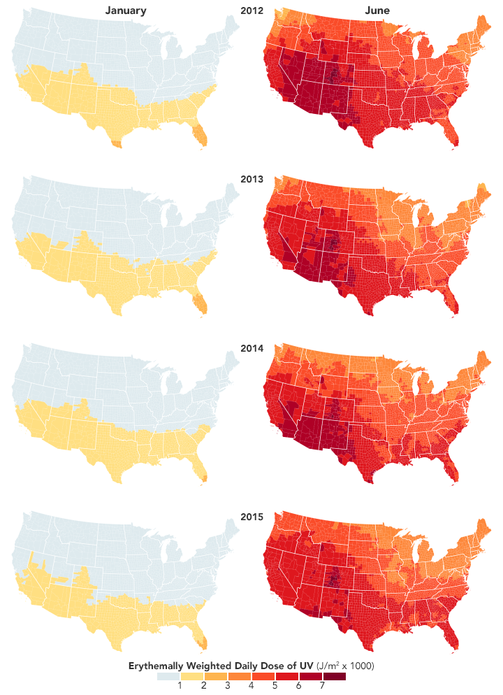 New Map Shows Risk of Sunburn Across the U.S. - related image preview