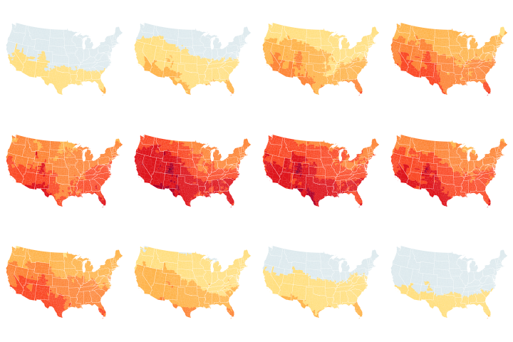 New Map Shows Risk of Sunburn Across the U.S.