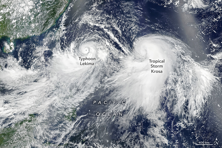 Typhoon Lekima and Tropical Storm Krosa - related image preview