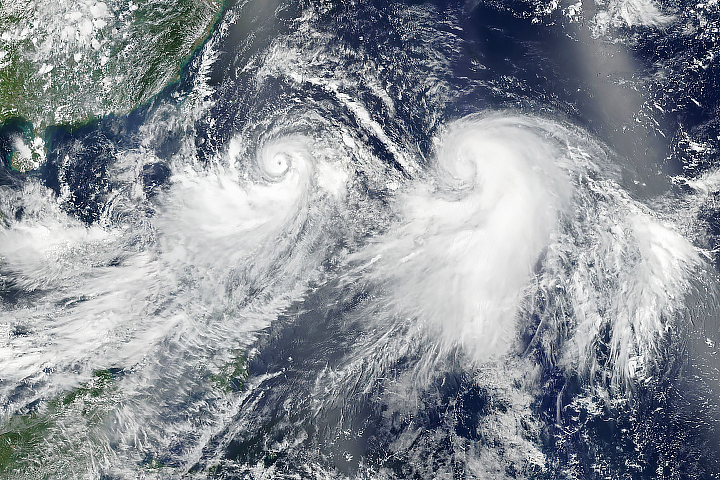 Typhoon Lekima and Tropical Storm Krosa