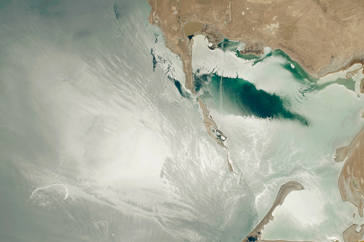 Sunglint on Turkmenbashi Gulf - selected image