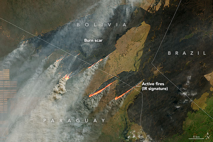 Fire Burns in Paraguay, Bolivia, and Brazil - related image preview