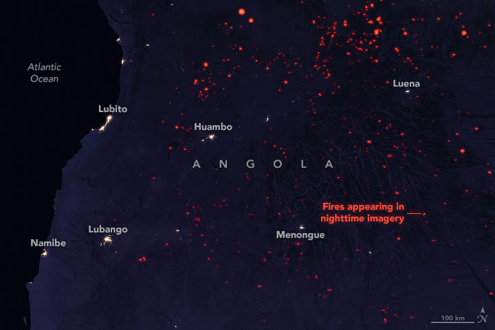 Seasonal Fires are Burning in Angola