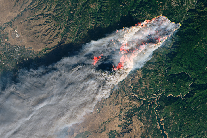 Rising Global Temperatures Influence California's Fire Season - selected image