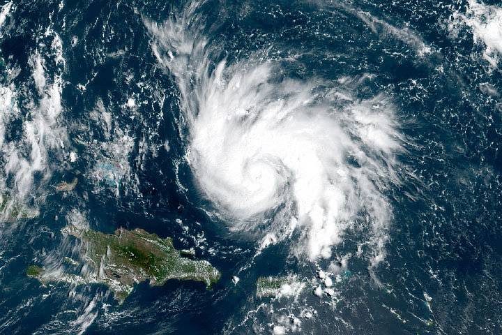 Hurricane Dorian in the Tropical Atlantic