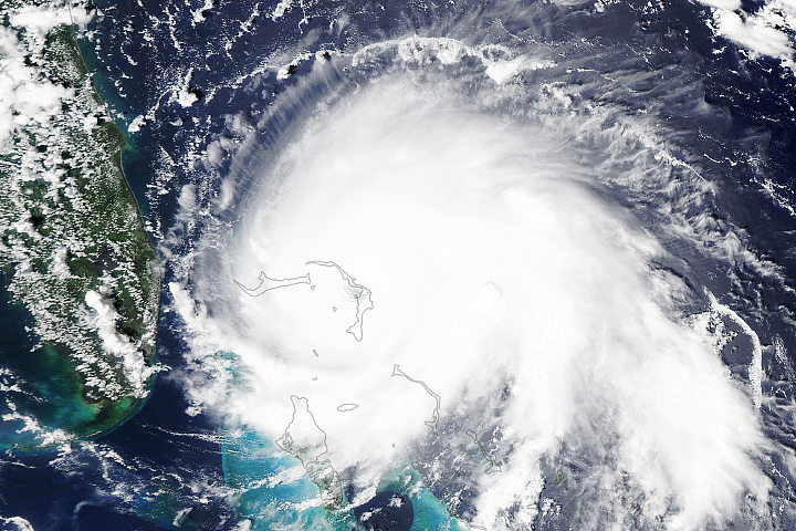 Hurricane Dorian Pounds the Bahamas
