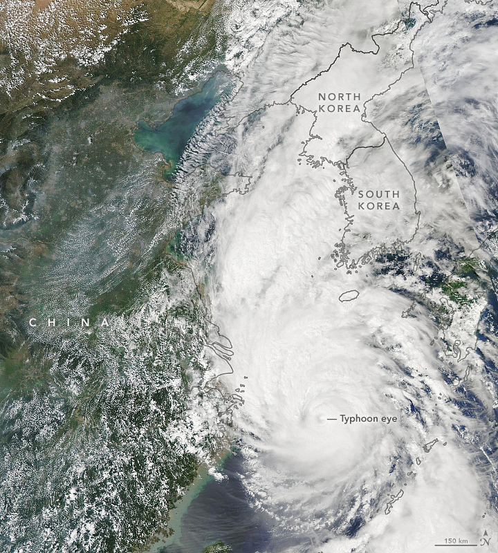 Typhoon Lingling Heads Towards the Koreas