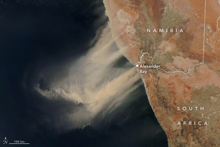 Dust Storm in Southern Africa