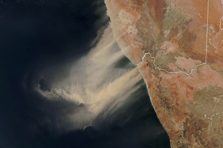 Dust Storm in Southern Africa - selected image