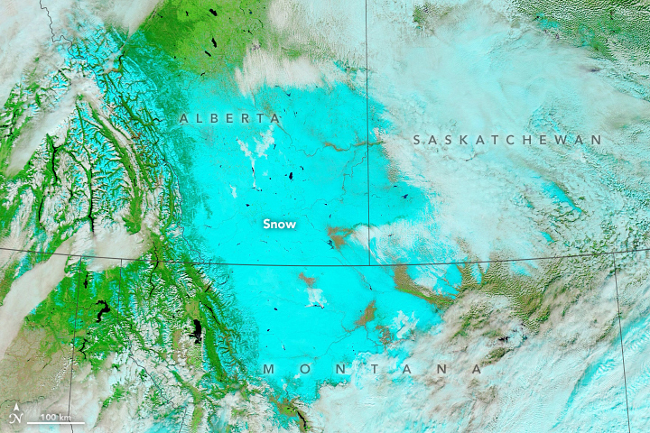 Snow in Montana and Canada - related image preview