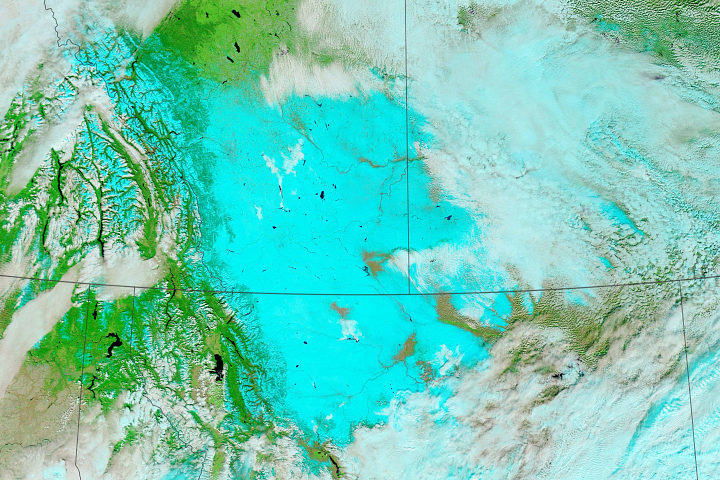 Snow in Montana and Canada - selected image