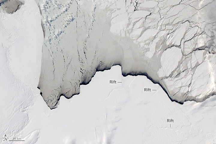 Rifting and Calving on the Amery Ice Shelf - related image preview