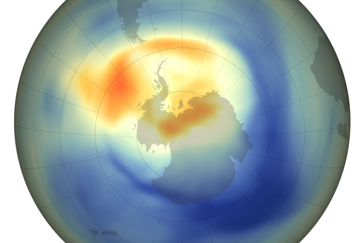 2019 Ozone Hole is the Smallest on Record - selected image