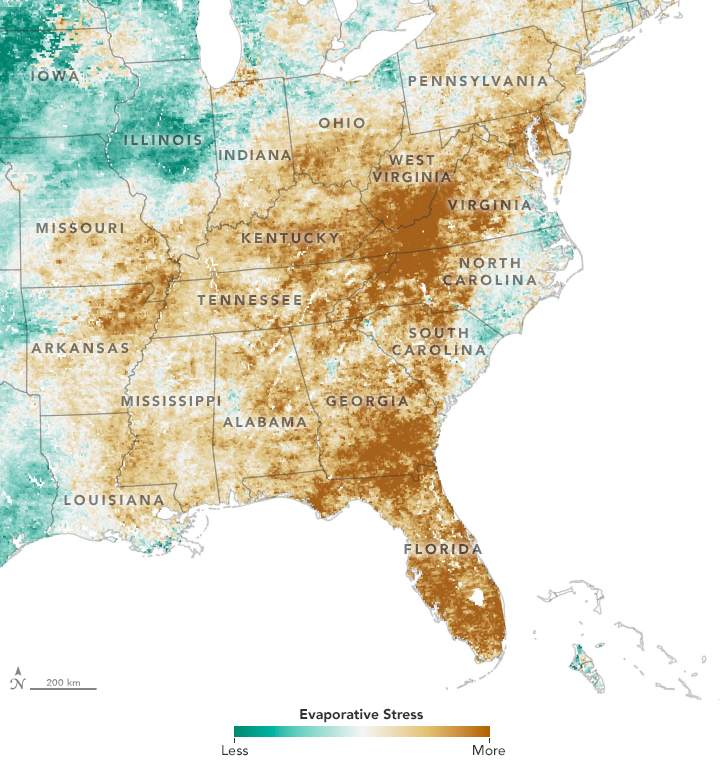 A Flash Drought Dries the Southeast