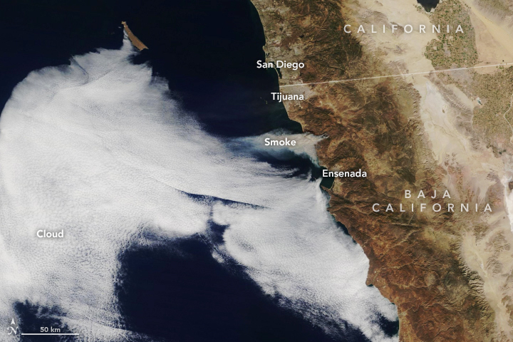 Winds Drive Smoky Wildfires in California, Mexico - related image preview