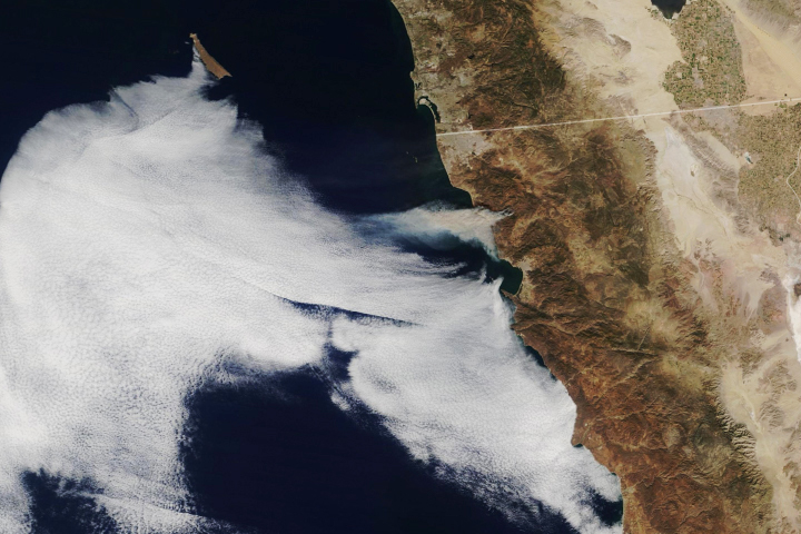 Winds Drive Smoky Wildfires in California, Mexico - selected image