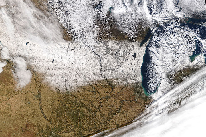 Early November Snow Coats the Midwest