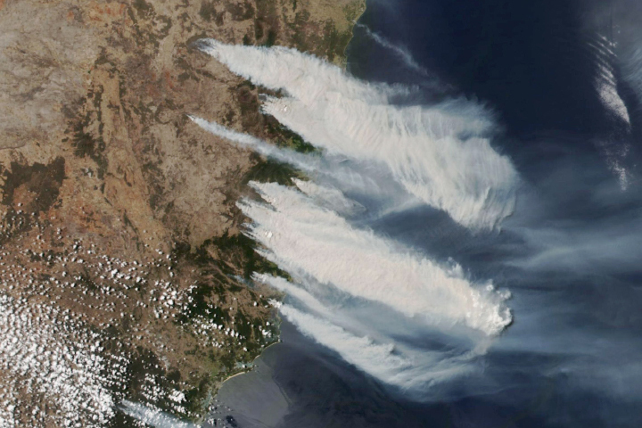Early Season Fires Burning in New South Wales - selected child image