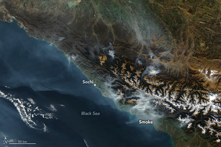 Fires in the Caucasus