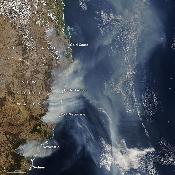 Aussie Smoke Plumes Crossing Oceans - related image preview