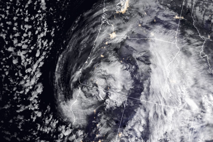Severe Winter Storm Hits the West Coast