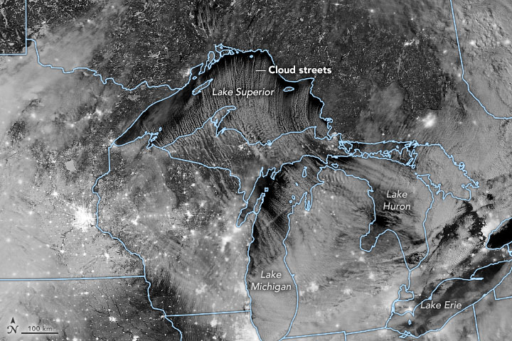 Cloud Streets Stream Over the Great Lakes - related image preview