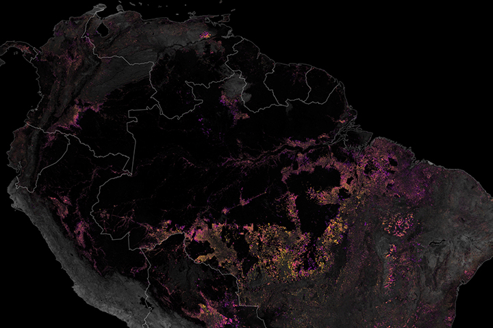 Tracking Amazon Deforestation from Above