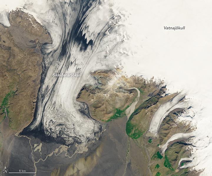 Iceland's Volcanic Glacier