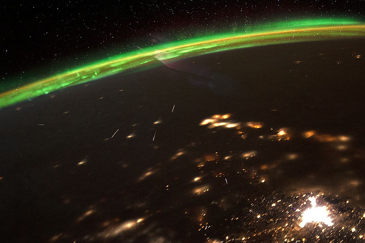Watching Meteors from Space - selected image