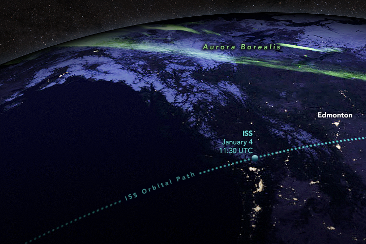 Watching Meteors from Space - related image preview